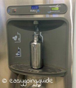 Edminton Wasser auffüllen