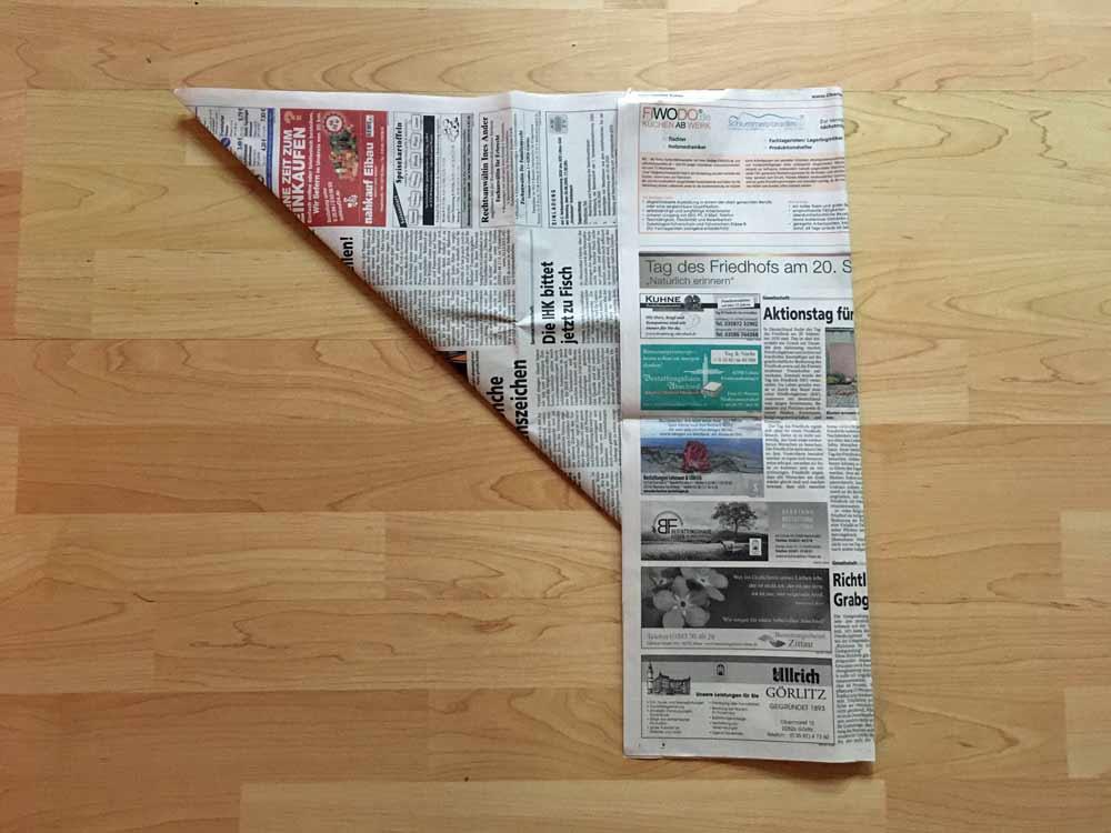 Fold long edge