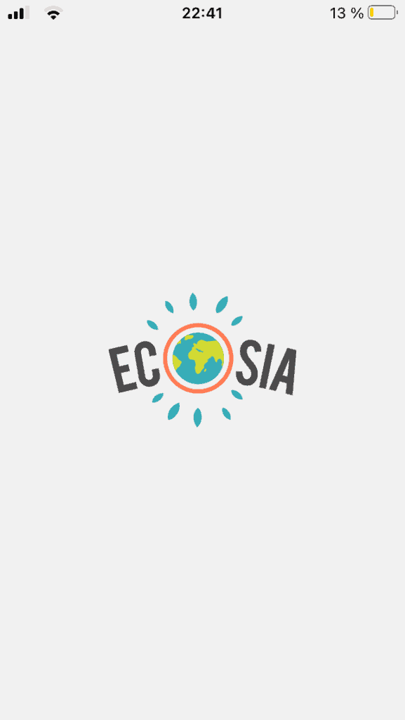 Ecosia sustainable search engine