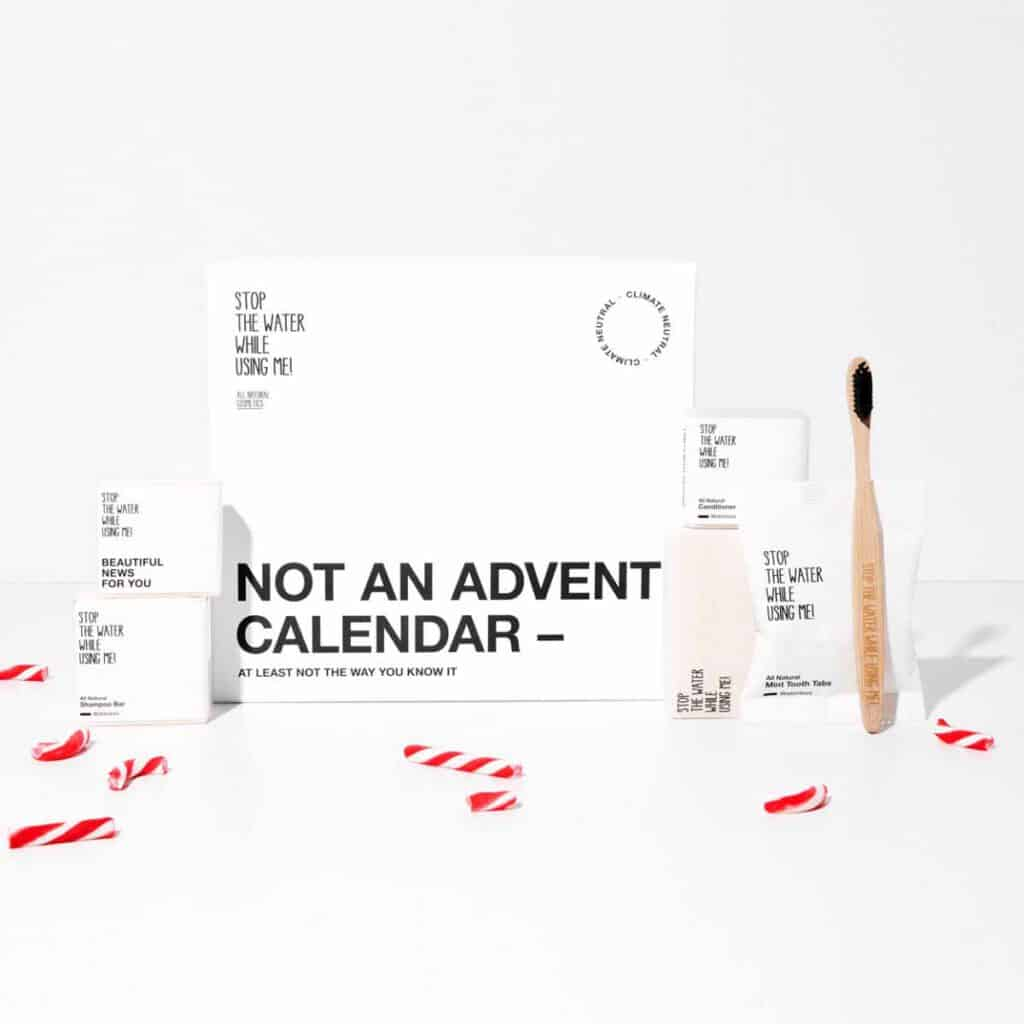 sustainable advent calendar by stop water while using me