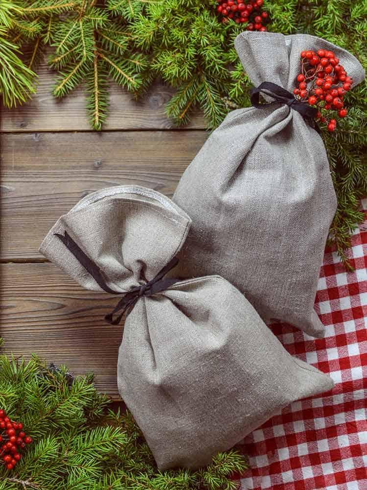 Stoffbeutel als nachhaltige Geschenkverpackung
